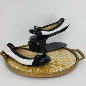 Michael Kors Ballet Flats Black and white Leather